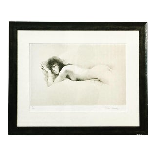 """1970s Vintage """"Nude I"""" Maher Morcos Lithograph Print For Sale"""