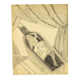 Original French Art Deco Paul Iribe Nicolas Print, Sleeping Beauty (La Belle Au Bois Dormant) For Sale