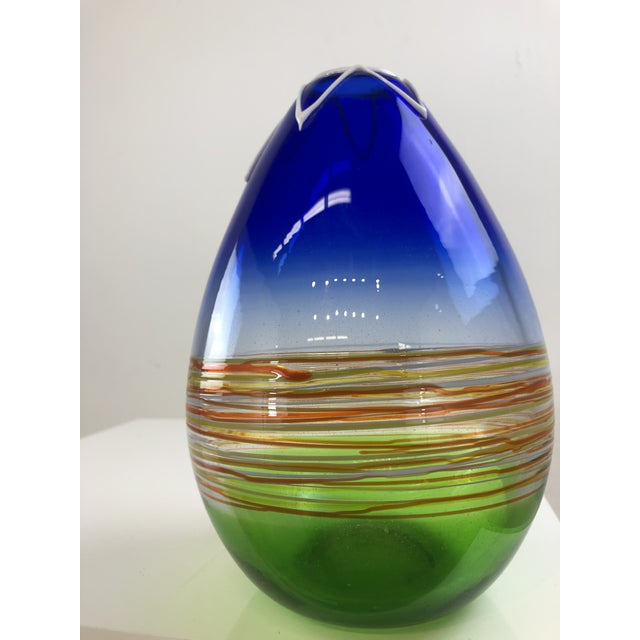 1960s Vintage Gino Cenedese Murano Vase For Sale - Image 12 of 13