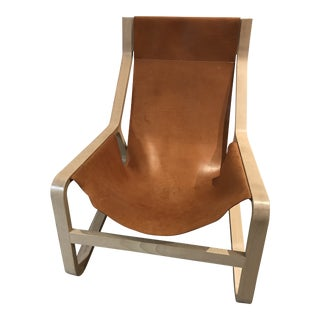 Modern Stylish & Comfy Bludot Toro Leather Lounge Chair For Sale