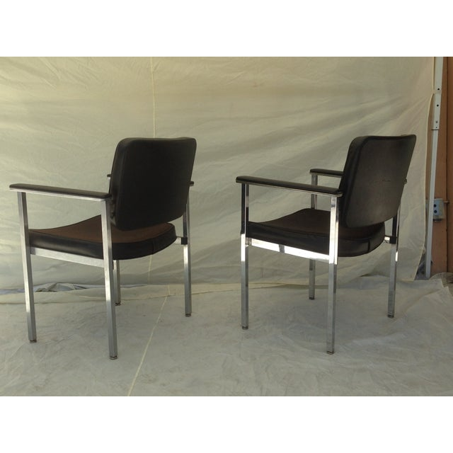 All Steel Co. Office Club Chairs - A Pair - Image 5 of 8