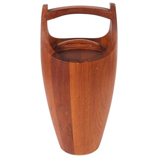 Vintage Teak Ice Bucket Designed by Jens Quistgaard For Sale