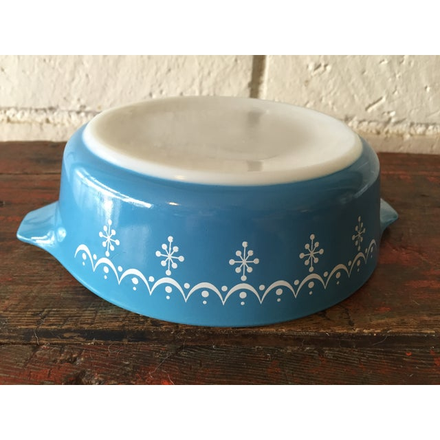 Pyrex Blue Snowflake Casserole Dish For Sale - Image 7 of 8