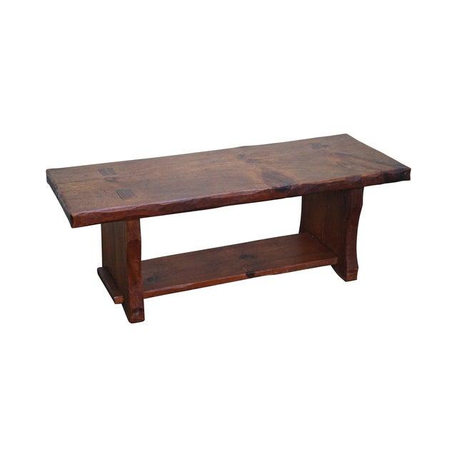 Rustic Slab Wood Coffee Table - Image 1 of 10