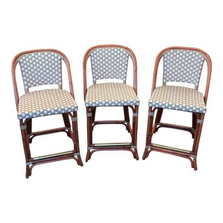 Set of 3 Poitoux French Bistro Counter Stools For Sale