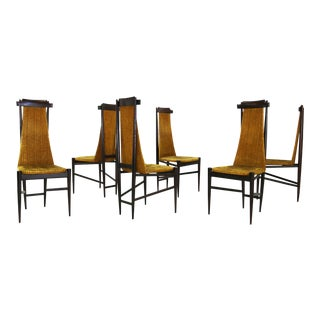 Set of Sergio Rodrigues for Isa Bergamo Chairs From 1950 For Sale