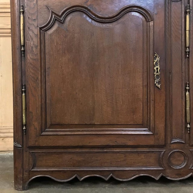 19th Century Country French Provincial Oak Low Buffet For Sale - Image 11 of 13