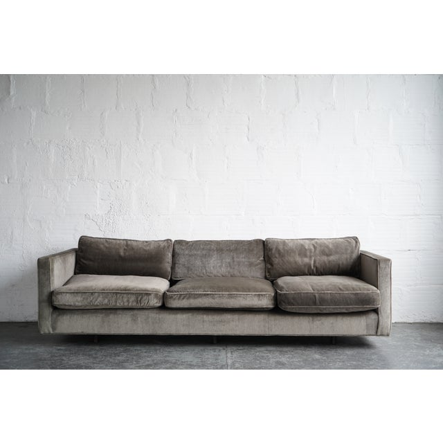2010s Harvey Probber Green Down Sofa For Sale - Image 5 of 5