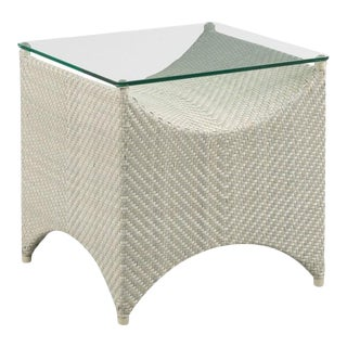 Woodbridge Round Posts Square Ventana Side Table For Sale