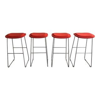 Jasper Morrison Hi-Pad Stools - Set of 4 For Sale