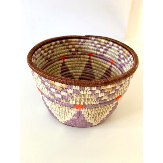 Boho Chic Tribal Style Handwoven Planter/Basket For Sale - Image 3 of 10
