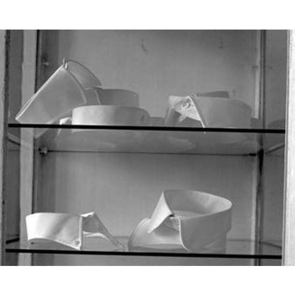 "Contemporary 1998 ""Collars on Glass Shelf"" Photograph For Sale - Image 3 of 6"