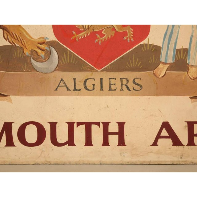 Vintage Exmouth Arms Original English Pub Sign For Sale - Image 10 of 10