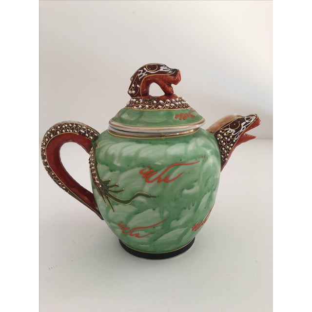 1940's Nagoya Moriage Dragon Ware Tea Set - 7 For Sale In Los Angeles - Image 6 of 11