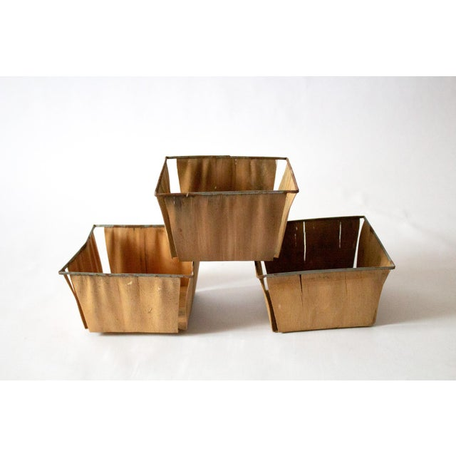 1950s Boho Chic Style Gold Metal Berry Baskets - Set of 3 For Sale - Image 10 of 10