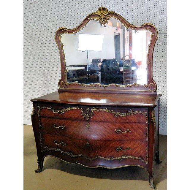 Regency Style Commode With Mirror For Sale - Image 9 of 10