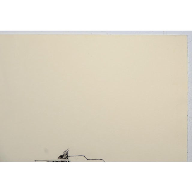 """1970s Contemporary Abstract """"No Title (Crayon 2)"""" Etching by Ferdinand Penker For Sale In San Francisco - Image 6 of 8"""