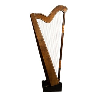 1950 Argentinian Mahogany Satinwood Lever Harp With 36 Strings For Sale