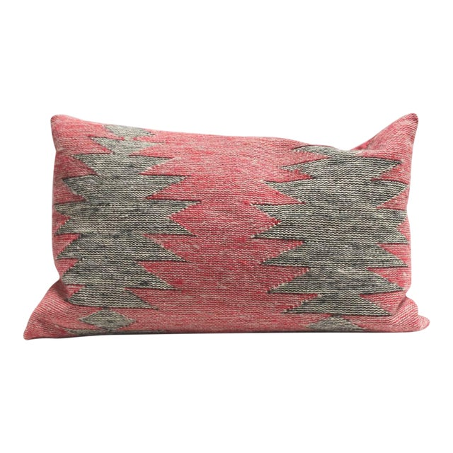 Group of Three Navajo Indian Weaving Bolster Pillows For Sale