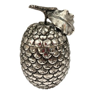 Mauro Manetti Italian Silver Plate Acorn Ice Bucket C.1960 For Sale