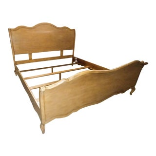 Drexel Heritage Furniture Maple King Sleigh Bed For Sale