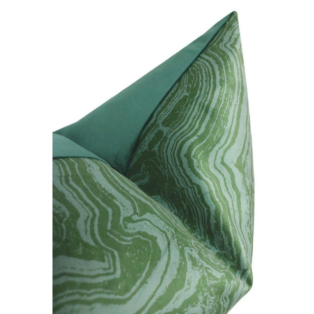 """Not Yet Made - Made To Order 12"""" X 18"""" Malachite Velvet Lumbar Pillows - a Pair For Sale - Image 5 of 6"""