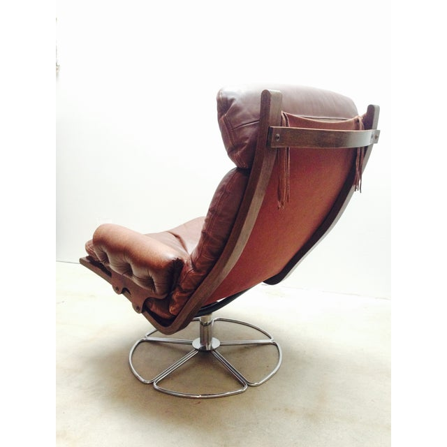 1960s Bruno Mathsson for Dux Swivel Base Lounge Chair For Sale - Image 5 of 10