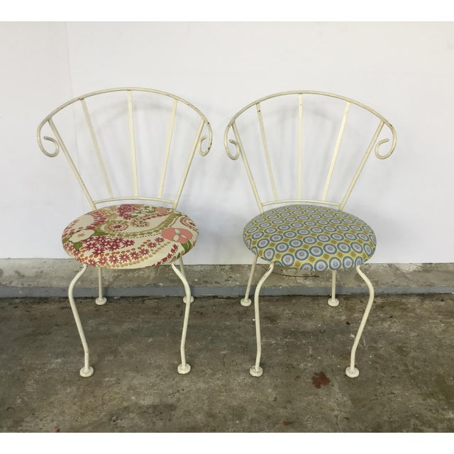 Mid-Century Painted Cast Iron Chairs - A Pair - Image 2 of 9