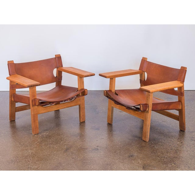 Pair of Borge Mogensen Spanish Chairs for Fredericia Stolefabrik For Sale - Image 13 of 13
