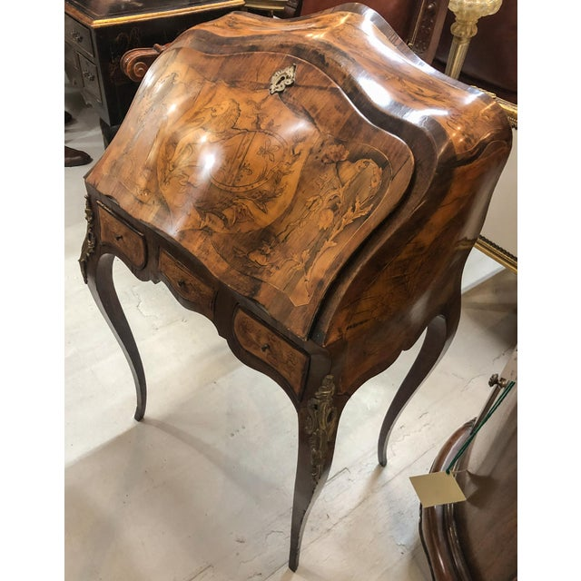 Mid 19th Century Inlay Marquetry Bombay Desk / Secretary For Sale - Image 5 of 10