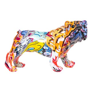 "Interior Illusions Plus Street Art Bulldog Standing - 11"" long For Sale"