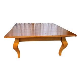 Barn Wood Cabriole Leg Coffee Table