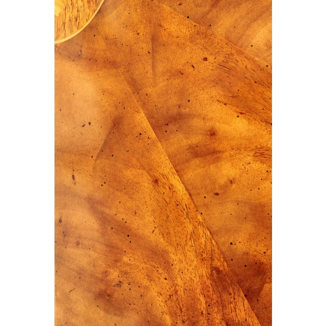 "1960s Mid-Century Modern Signed Baker ""Collectors Edition"" Exotic Burl Amboyna Tea Table For Sale - Image 5 of 13"