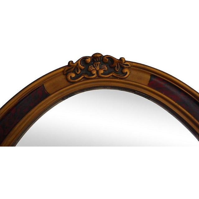 French Oval Mirror - Image 2 of 3
