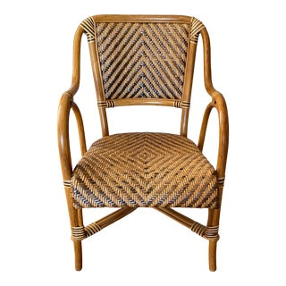 Vintage Rattan Side Chair For Sale