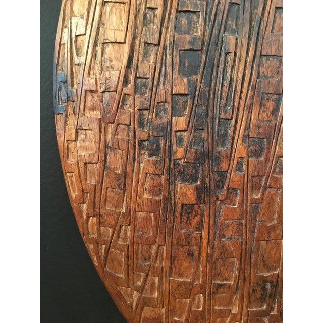 Brown Lake Sentani Carved Feasting Platter For Sale - Image 8 of 8