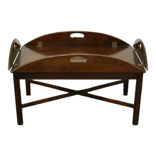 """Traditional Statton Furniture Solid Mahogany 46"""" Coffee Table For Sale"""