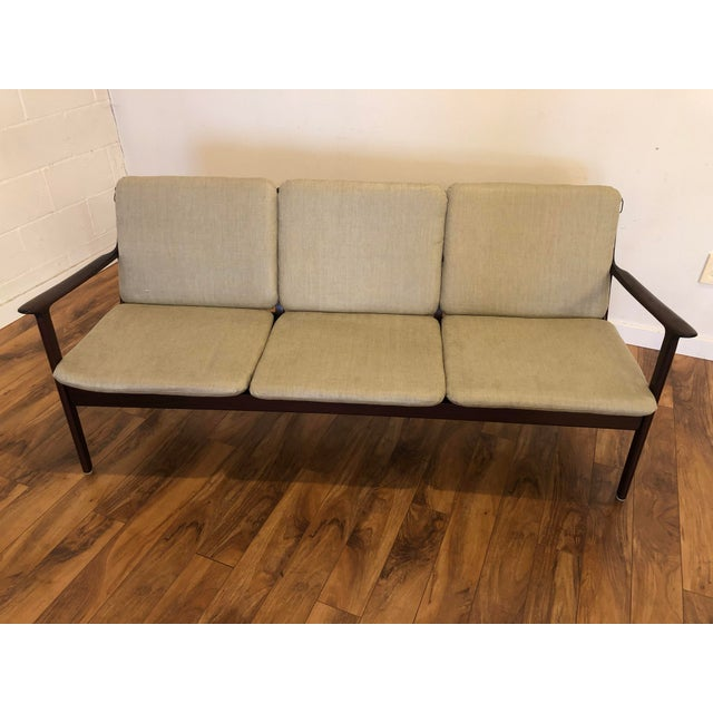 Mid-Century Modern Vintage Mid Century Modern Sofa by Ole Wanscher for Poul Jeppesen For Sale - Image 3 of 13