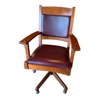 Stickley Mission Collection Swivel Tilt Desk Chair For Sale