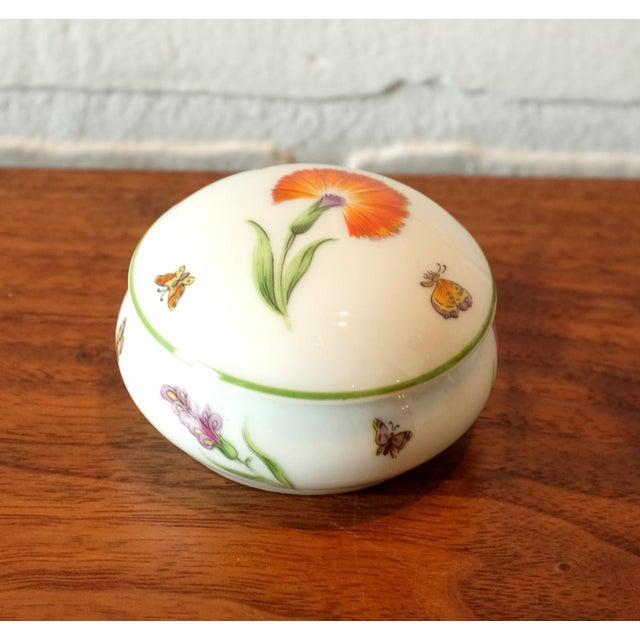 Ceramic Vintage Tiffany & Co. French Limoges Porcelain Jar W/Top For Sale - Image 7 of 7