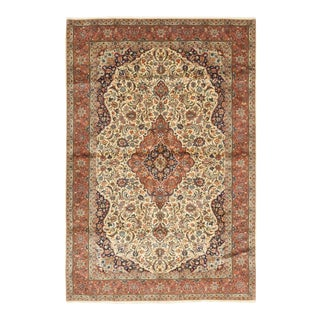 One-Of-A-Kind Persian Hand-Knotted Area Rug, Sepia, 6' 10 X 10' 4 For Sale