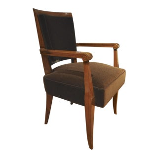 Maxime Old Pair of Refined Solid Walnut Armchairs For Sale