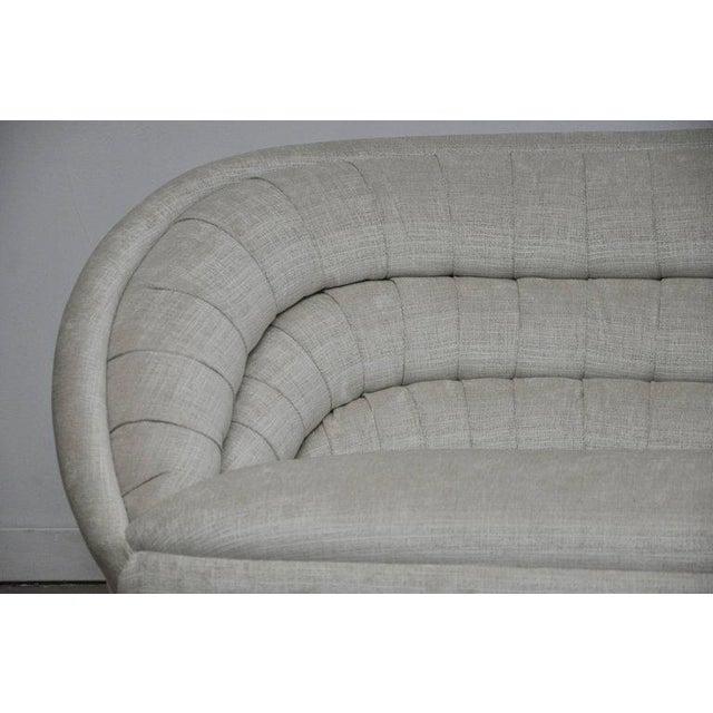 Mid-Century Modern Vladimir Kagan Crescent Sofa on Brass Base For Sale - Image 3 of 8