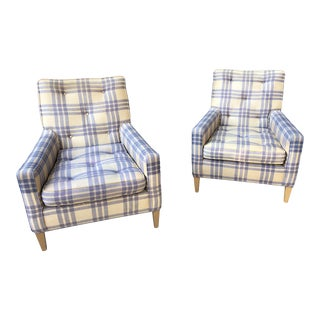 1950s Vintage Robsjohn Gibbings for Widdicomb Lounge Chairs- A Pair For Sale