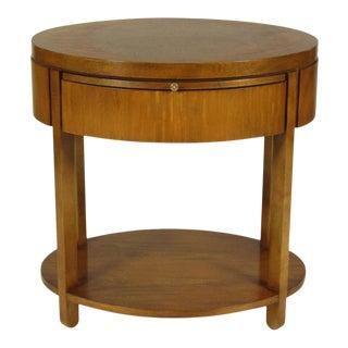1980s Baker Satinwood End Table For Sale