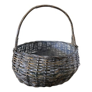 Farmhouse Rustic Large Boho Basket For Sale