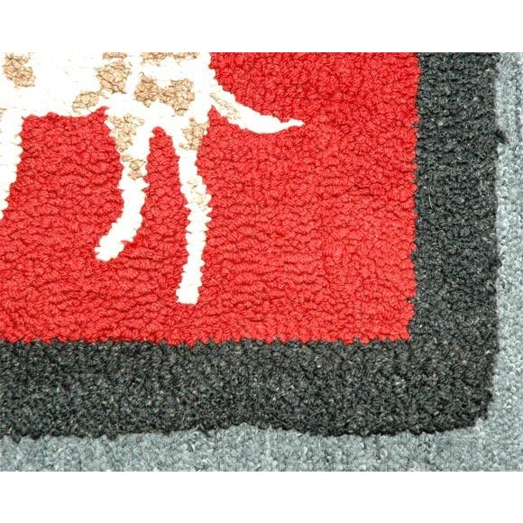 1920s Hand Hooked and Mounted Pictoral Dogs Rug For Sale - Image 4 of 5