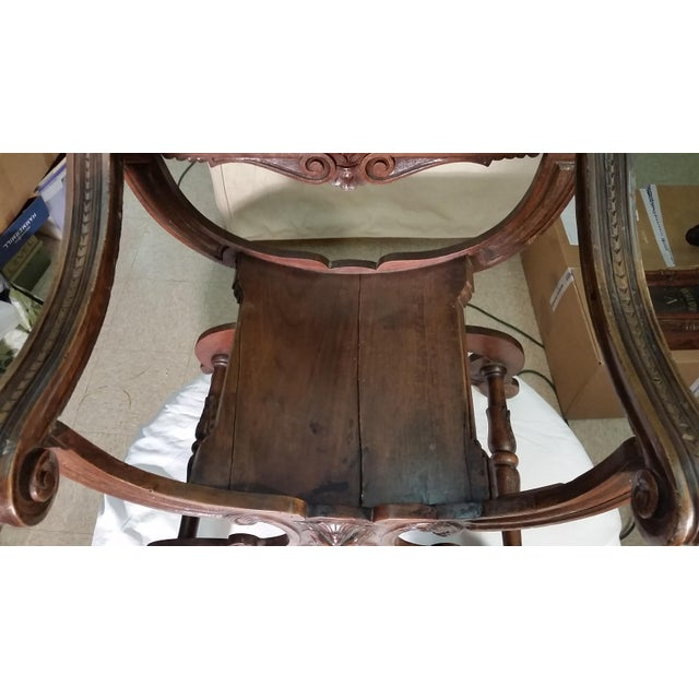 Savonarola Antique Chairs - a Pair For Sale - Image 4 of 8