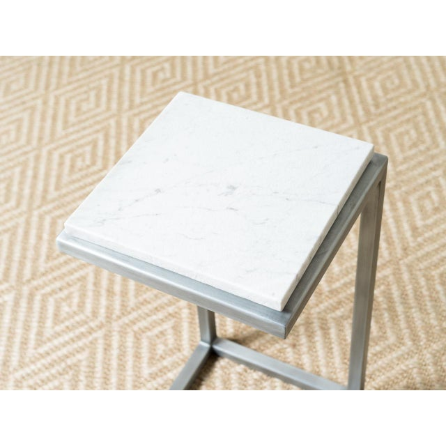 Mid-Century Modern Mid-Century Modern Style Rectangle Steel Patio Side Table For Sale - Image 3 of 5