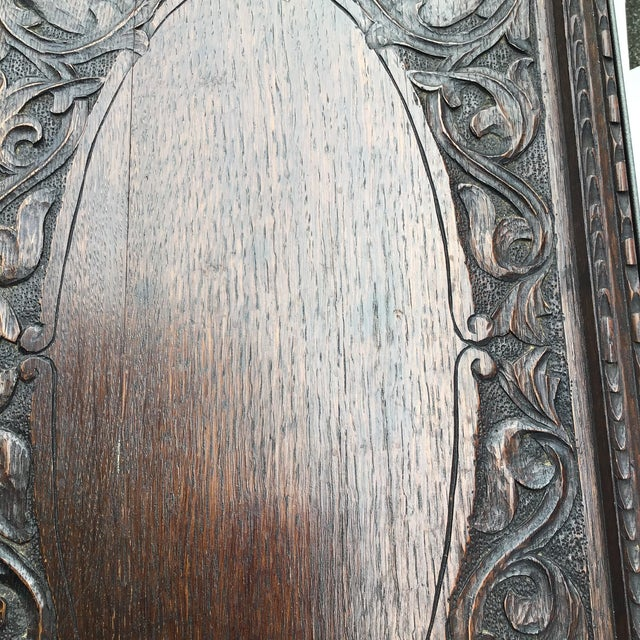 Metal Antique English Carved Side Table For Sale - Image 7 of 9